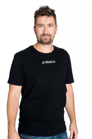 Sort t-shirt Herre-model GivBlod